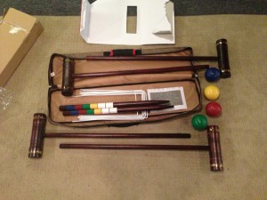 The all-new Croquet set