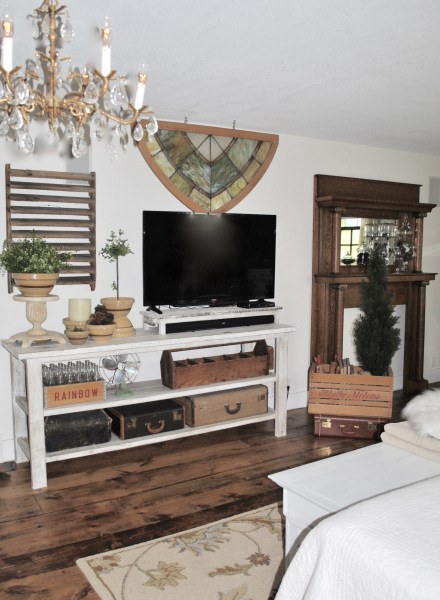 Master bedroom reveal - home made entertainment center