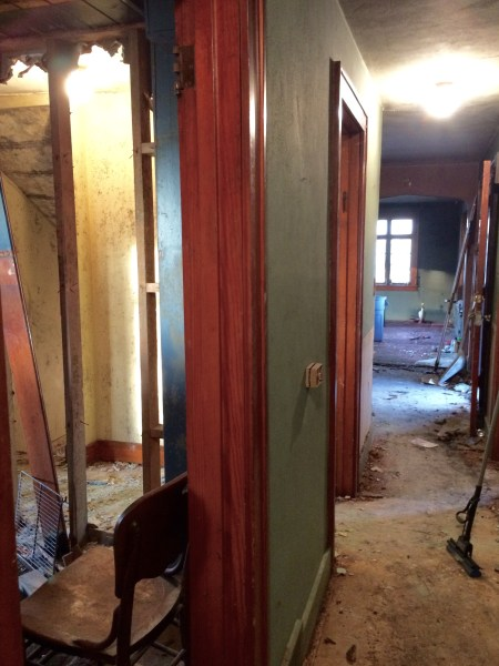 Kitchen beginnings and removing wall - House on Wichester
