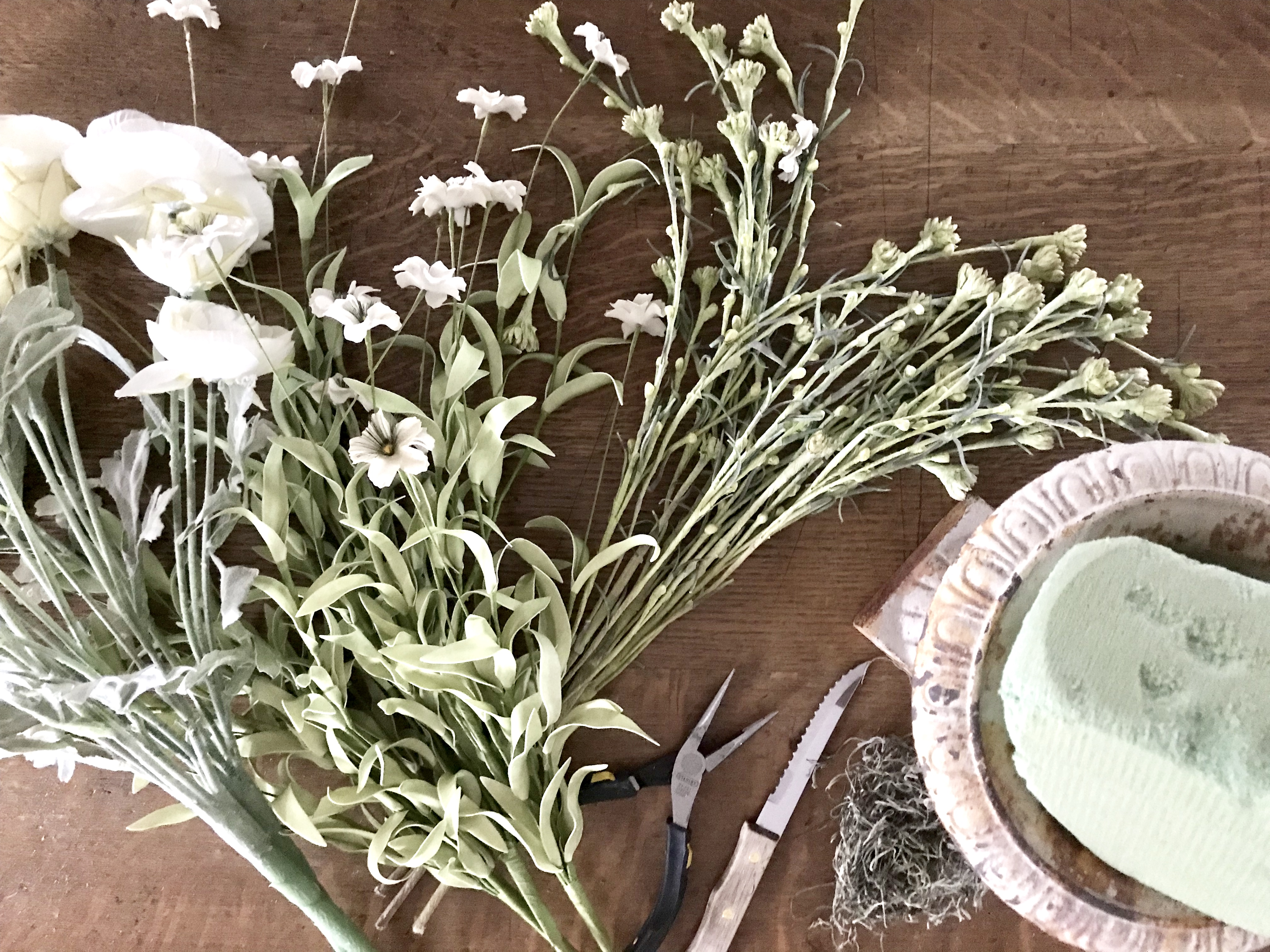 How To Make A Simple Artificial Flower Arrangement The House On