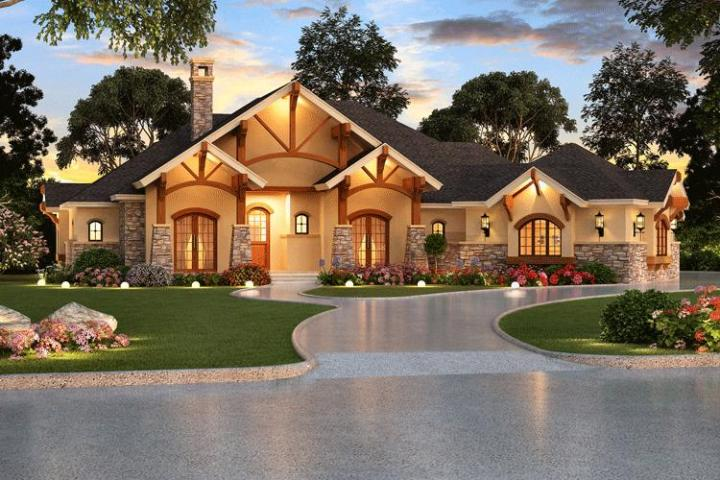 Craftsman Plan  3 584 Square Feet  4 Bedrooms  4 Bathrooms   5445 00067 photo