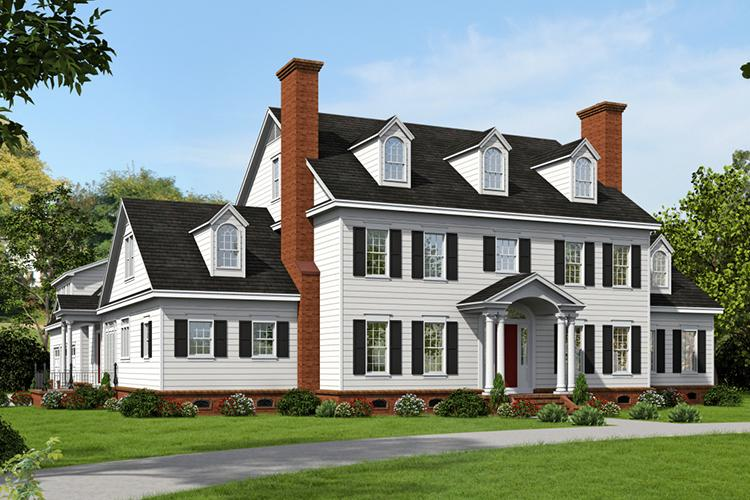 Colonial Plan  6 858 Square Feet  6 Bedrooms  4 5 Bathrooms   940 00020 photo