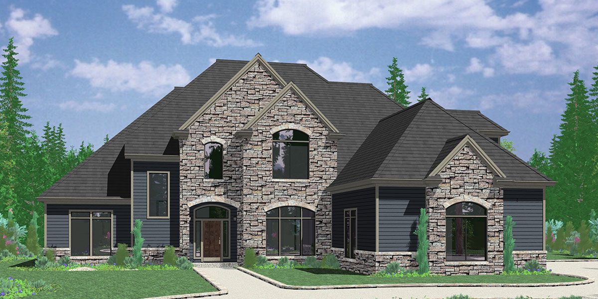 Traditional House Plans  Standard Home Room Sizes and Shapes 10090 Luxury house plans  main floor master bedroom  house plans with  outdoor kitchen