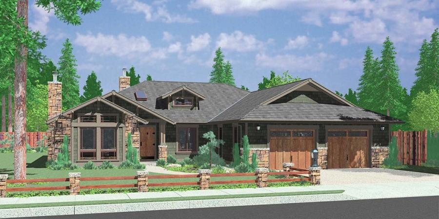Ranch House Plans  American House Design  Ranch Style Home Plans 9943 Good Looking One Level Home