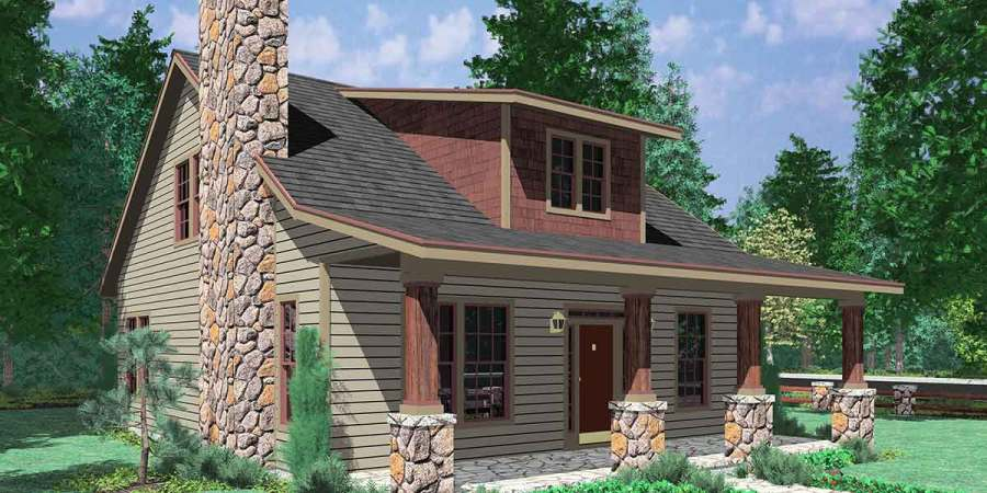 Country House Plans  French  Low  Small  Country Living  Simple 10122 Bungalow House Plans  Large Porch House Plans  1 5 Story House Plans   House