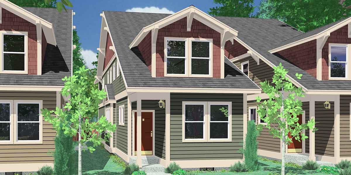 Narrow Lot House Tiny Small Home Floor Plans Bruinier Associates