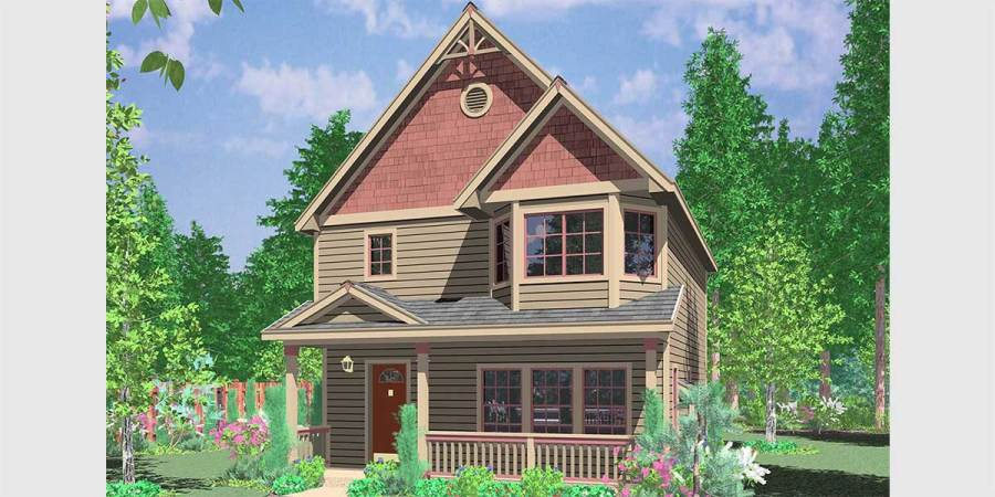 Victorian House Plans  Small and Large Style Floor Plans 10091 Victorian house plans  Narrow Lot House Plans  house plans with bay  windows
