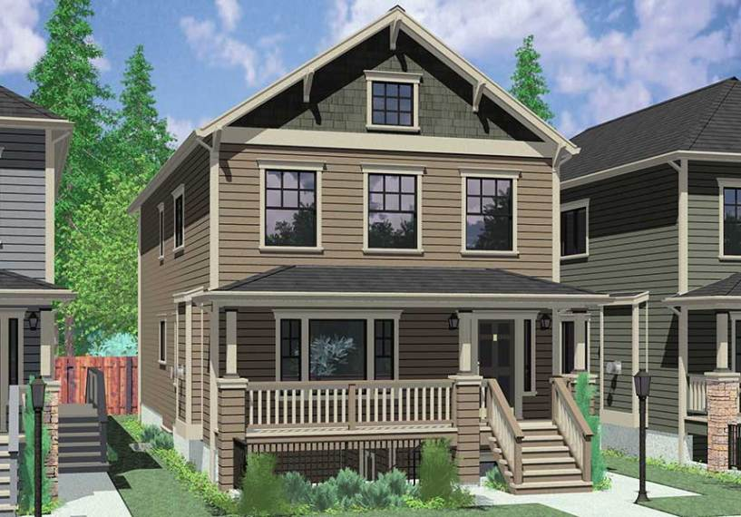 Stacked duplex house plans floor plans D 591 Multigenerational house plans  8 bedroom house plans  house plans  with apartment