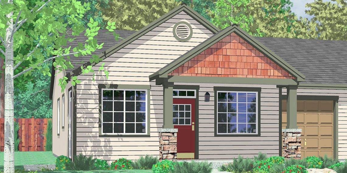 D  Duplex House Plans One Story Duplex House Plans Duplex House Plans