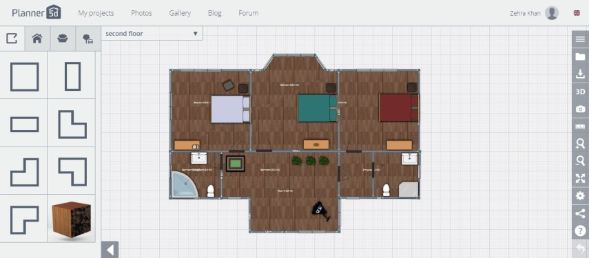 Free Floor Plan Software   Planner 5D Review planner 5d review first floor with furniture