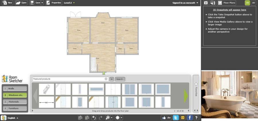Free Floor Plan Software   RoomSketcher Review Free Floor Plan Software RoomSketcher First Floor No Furniture