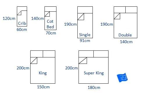 Bed Sizes Chart Uk