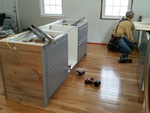 boston ikea kitchen progress 4