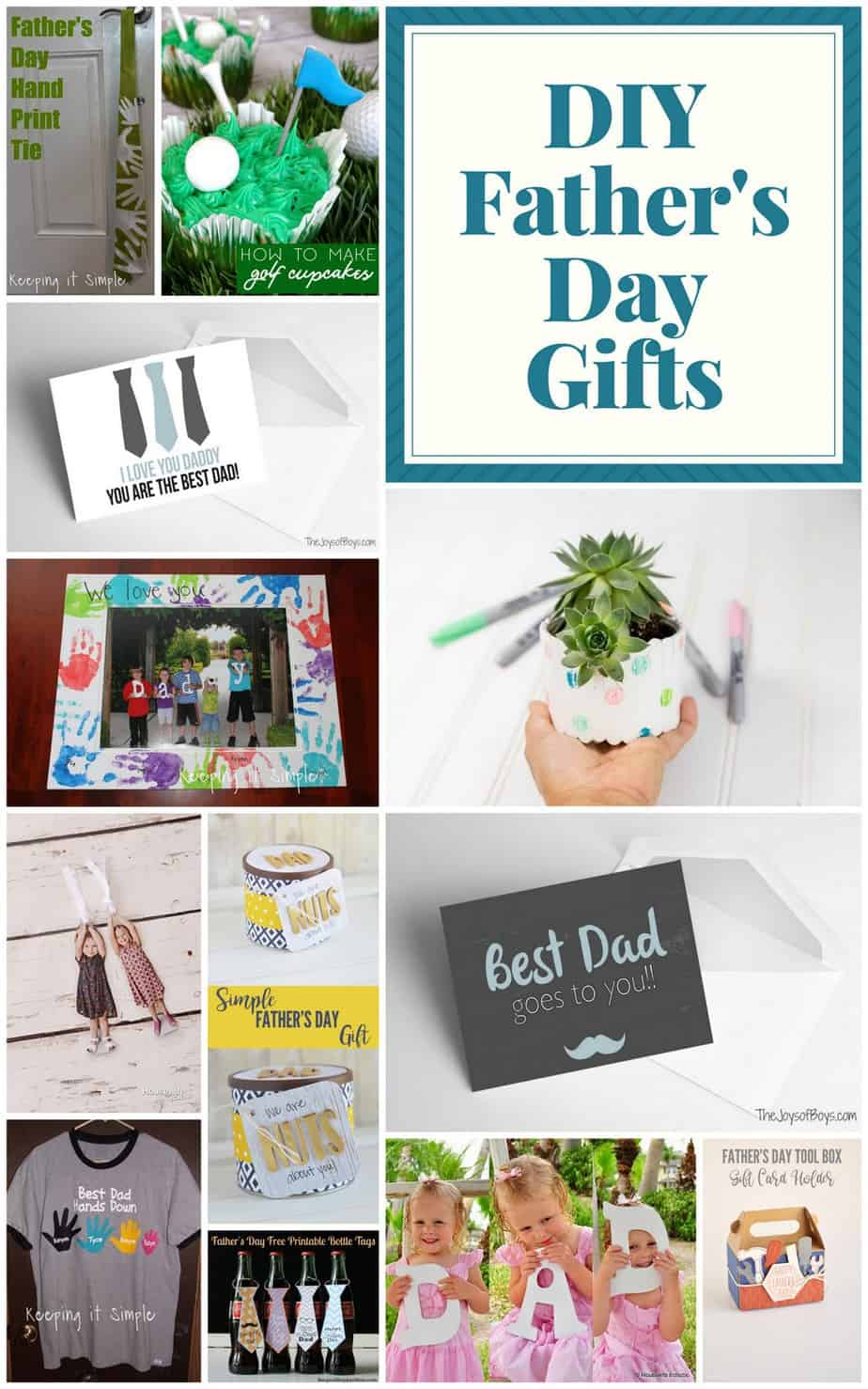 picture regarding Free Printable Fathers Day Tags called Very good Do-it-yourself Fathers Working day Items + Block Get together Website link Up