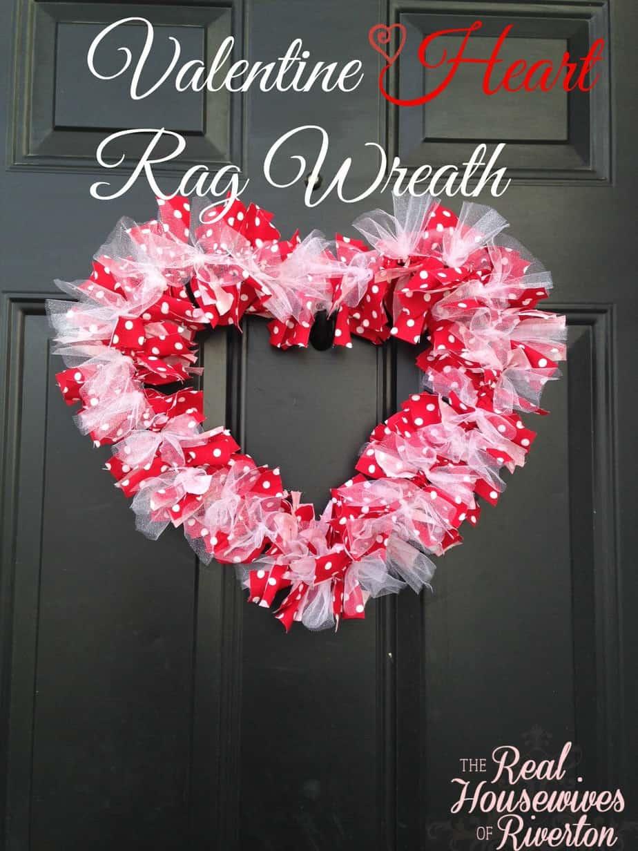 DIY Valentine Heart Rag Wreath Housewives Of Riverton