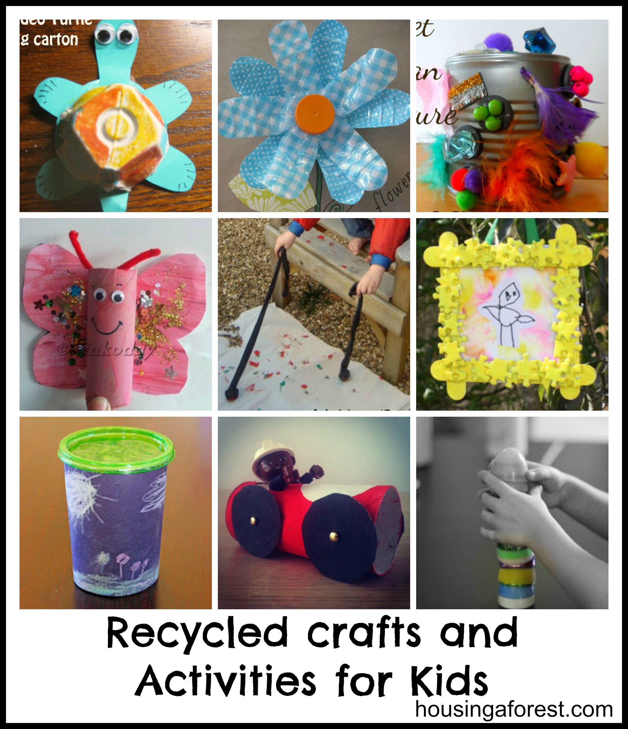 Recycled Crafts And Activities For Kids