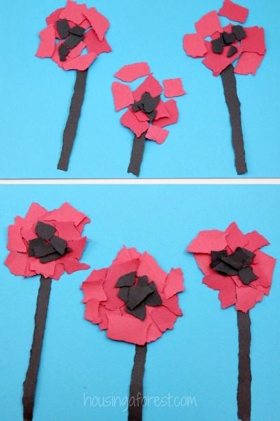 Torn Poppy Craft