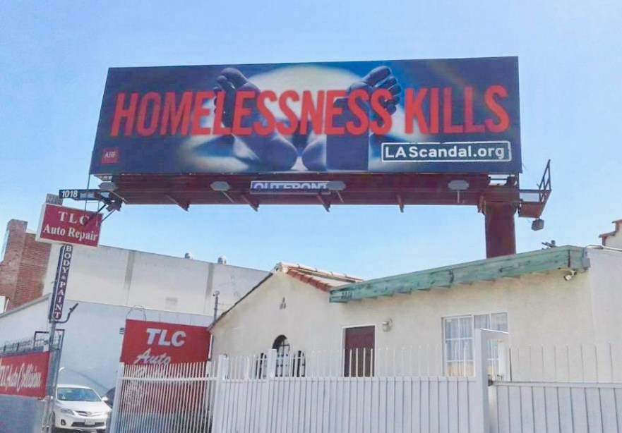 Housing Is A Human Right homeless crisis Los Angeles