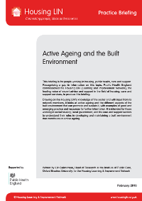 Cover HLIN PHE Practice Briefing Active Ageing