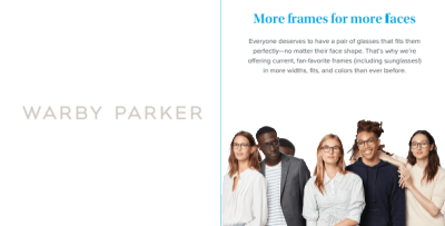 Warby Parker launches Expanded Width line of frames!