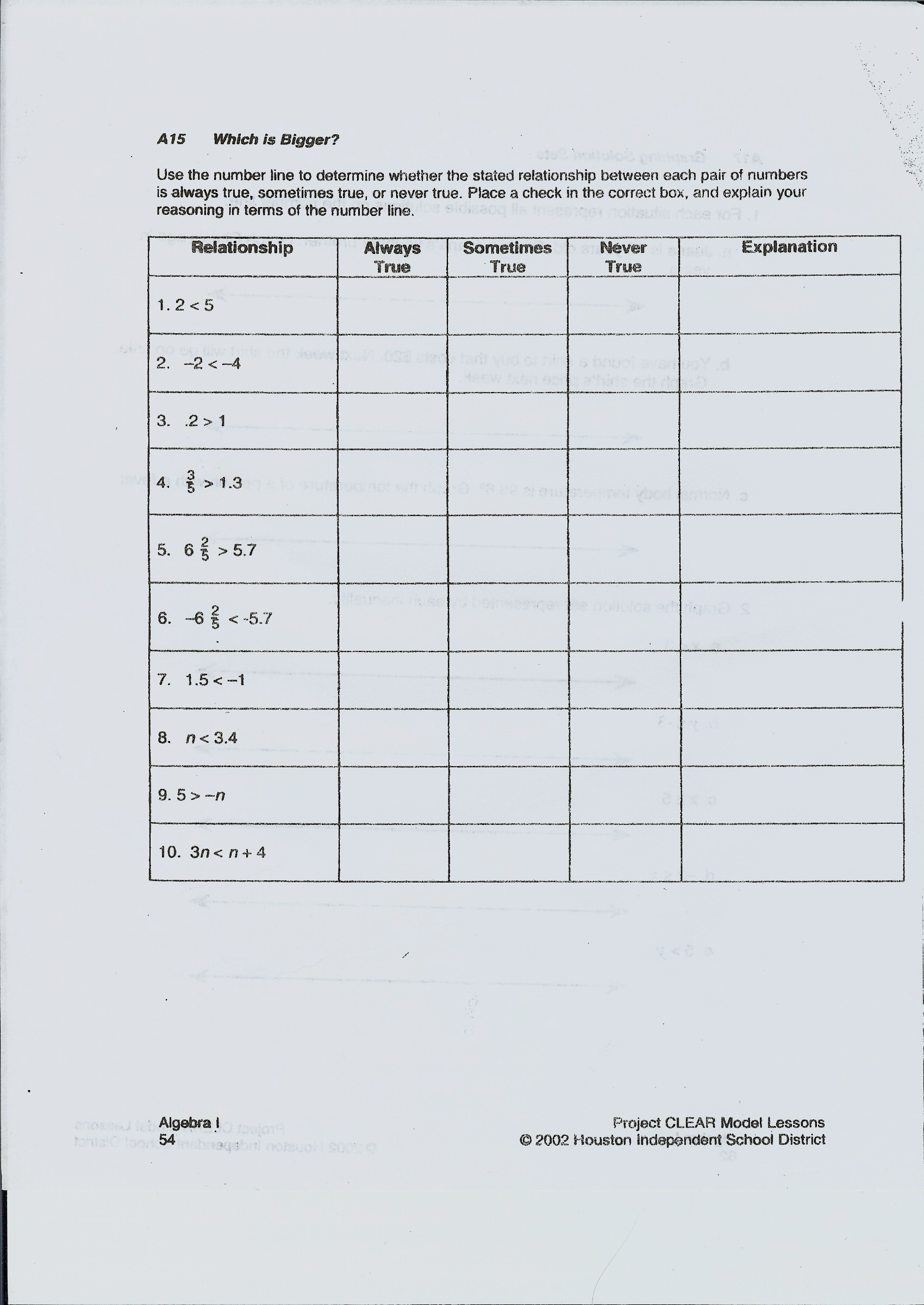 Printable Math Worksheets Domain And Range Answer Key
