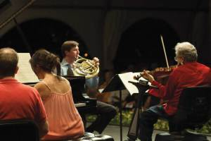 Family plays chamber music together.