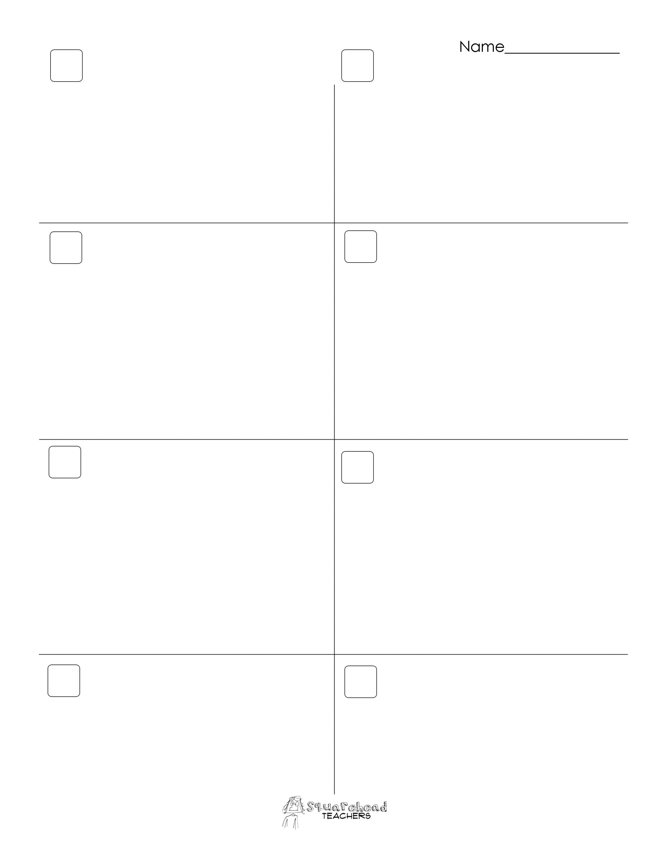 Blank Addition Worksheets