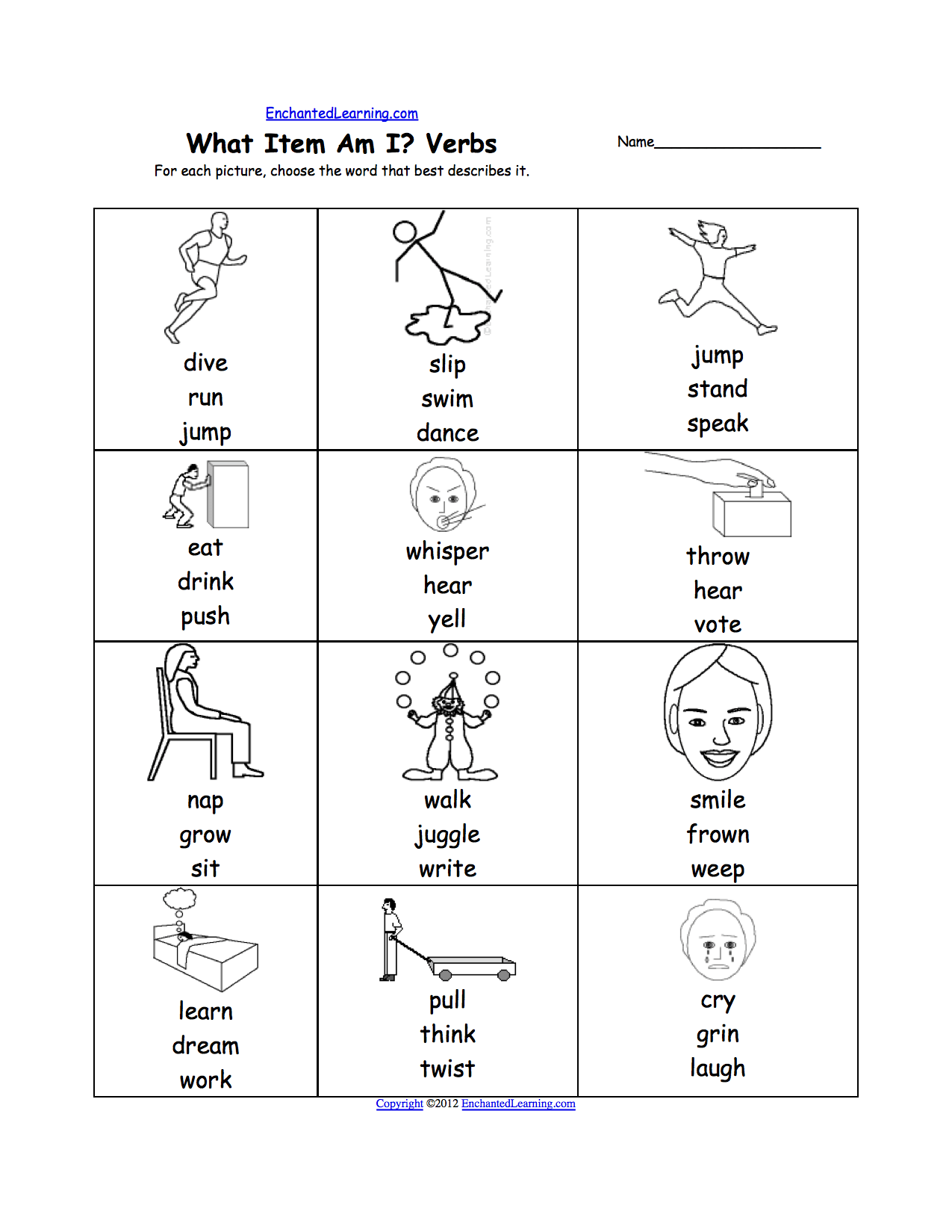 Verbs Worksheets First Grade The Best Worksheets Image