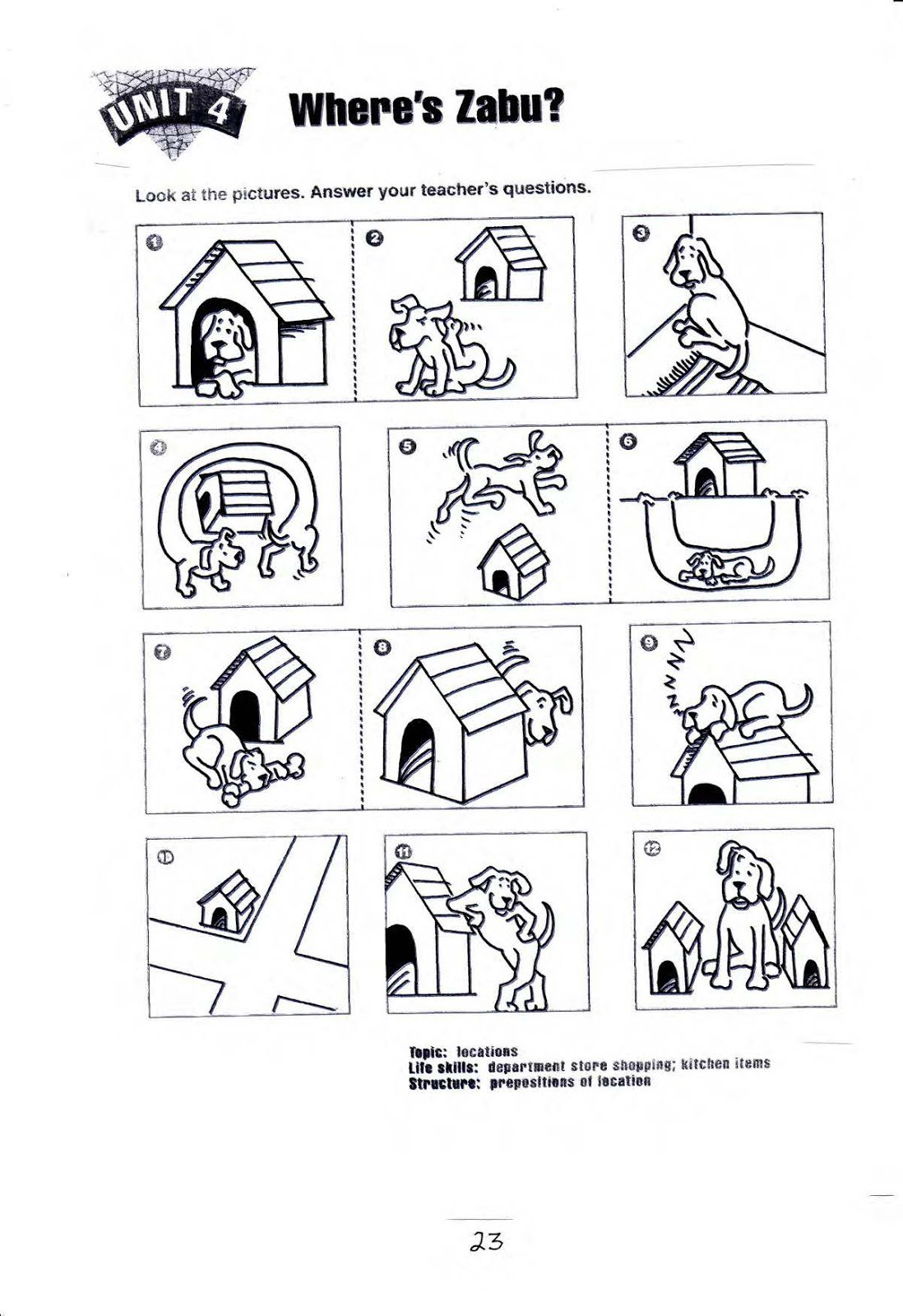 Free Preposition Worksheets For Kindergarten