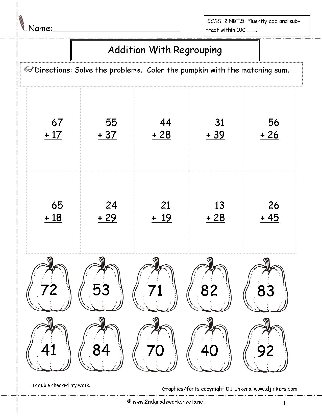 Math Halloween Worksheets 2nd Grade Free