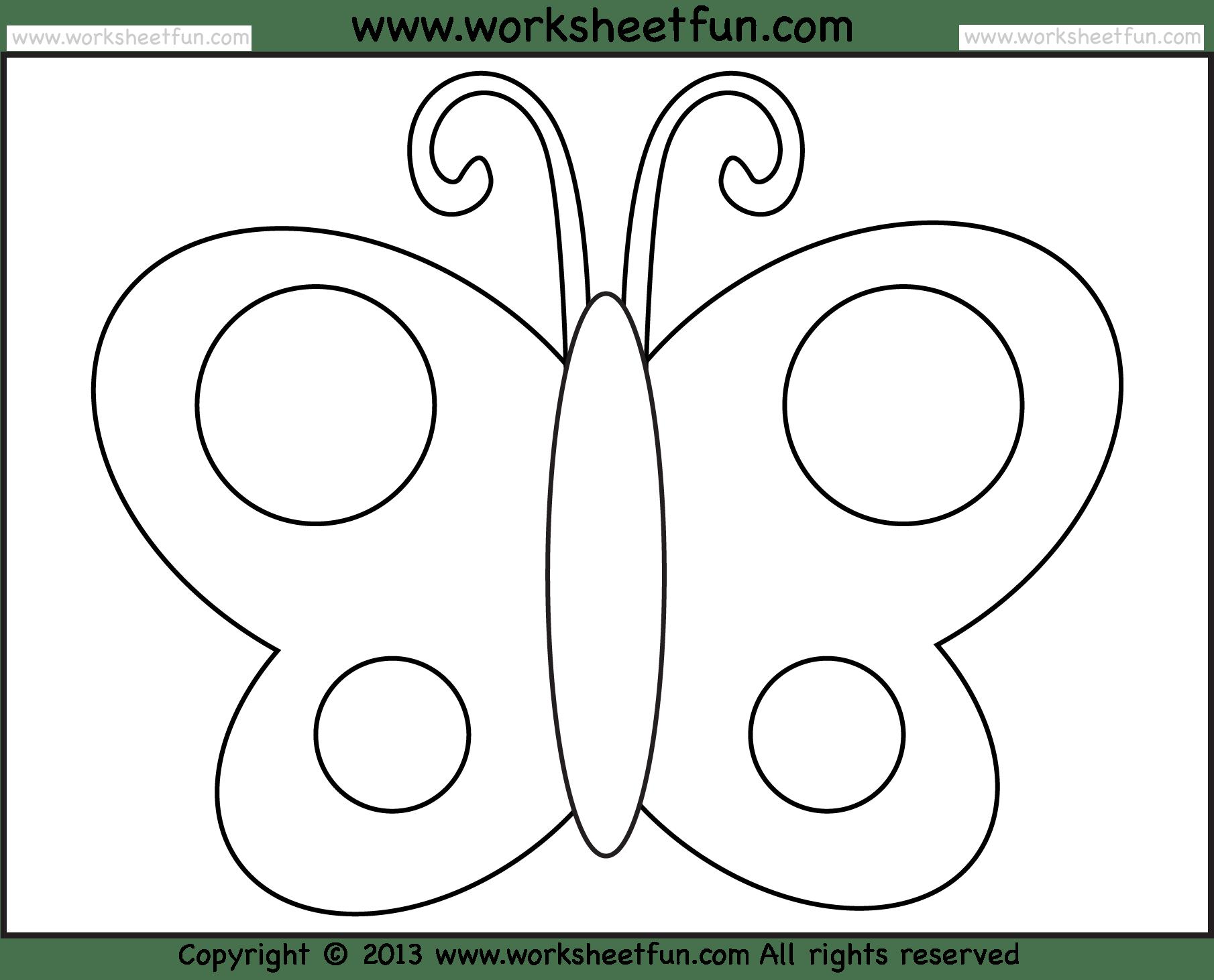 Preschool Butterfly Worksheets Free Worksheets