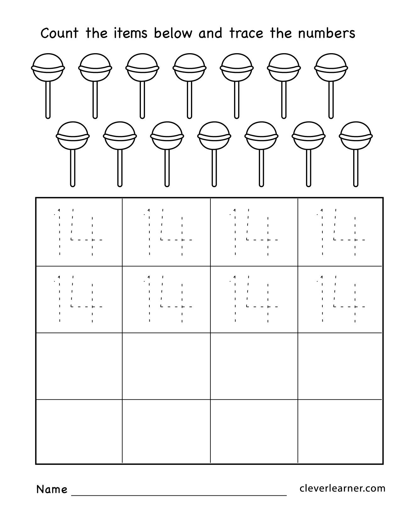 Free Printable Worksheets On Numbers For Preschoolers