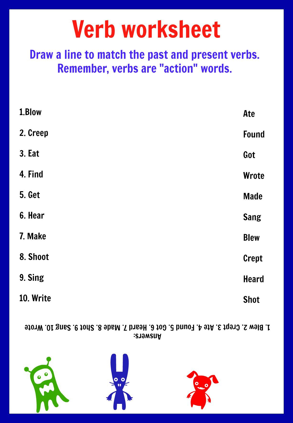 Verb To Be Free Printable Worksheets