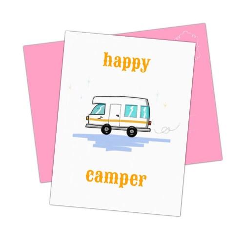 happy campers opgelet dit vrolijke kaartje is echt iets voor jou
