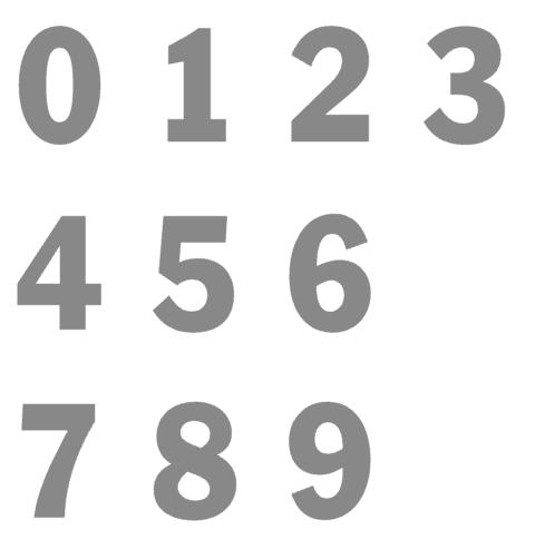 kies je favoriete kleur en laat je huisnummer tot een sticker maken