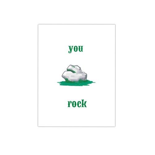 illustratie kaart you rock kaarten met een knipoog