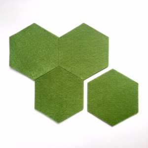 groene onderzetters handgemaakt van vilt, nooit meer kringen en krassen op tafel