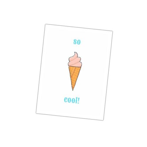 kaartje met een ijsje en tekst so cool