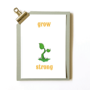 NICU geboortekaartje grow strong
