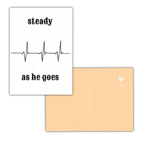 geboorte jongen NICU ansichtkaart hartslag