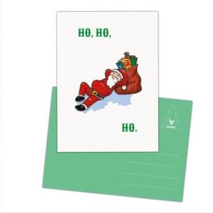 kerstkaart ho ho ho voor een relaxte kerstvakantie