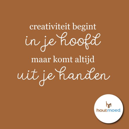 creativiteit begint in je hoofd maar komt altijd uit je handen: het jaar van handgemaakt