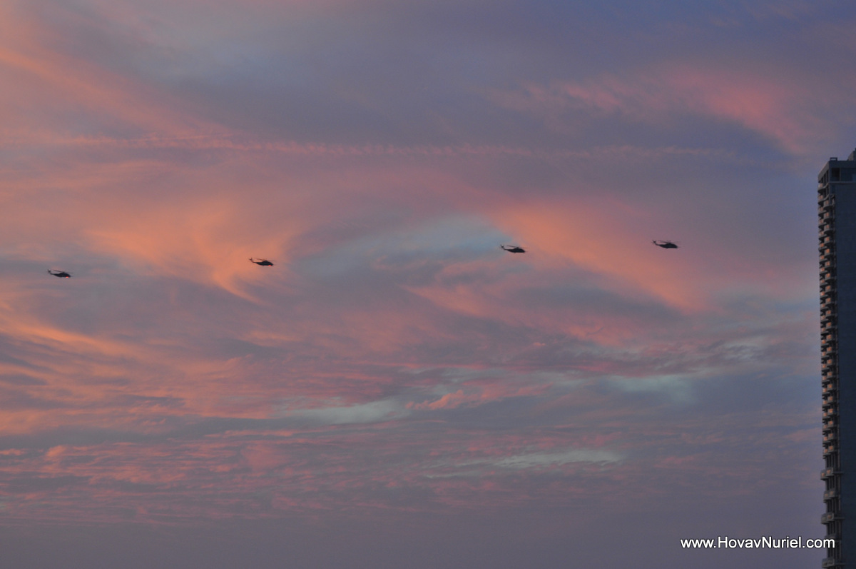Choppers with Sunset on the side
