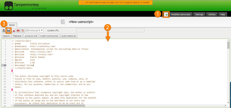 How to encrypt user credentials using Trello and Chrome - HoverDroids