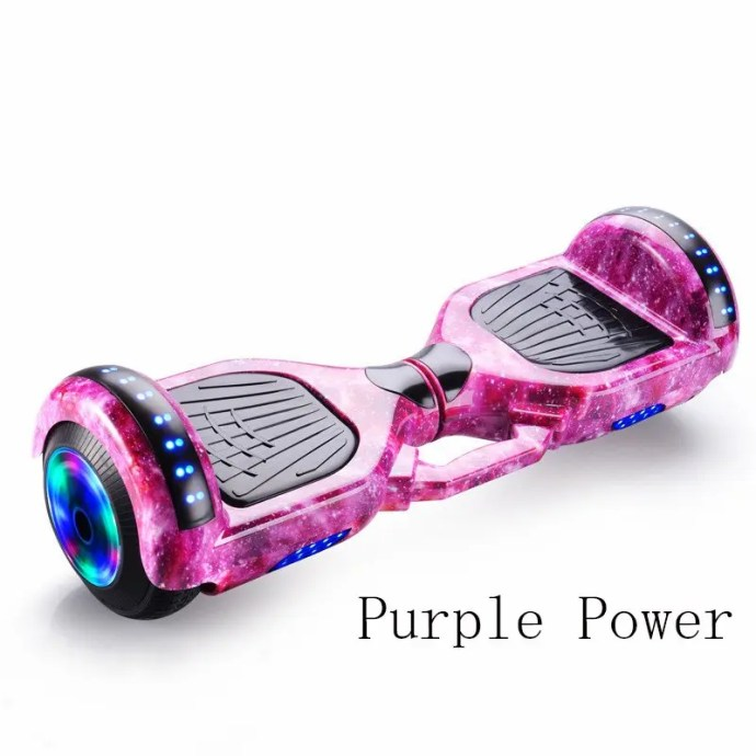 6.5 inch Smart Hoverboard Electric Balance Scooter Purple