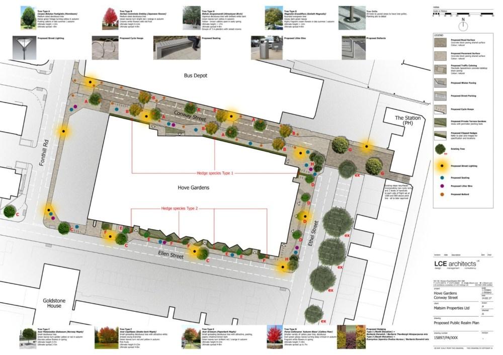 Matsim Hove Gardens Conway Street refurbishment plan