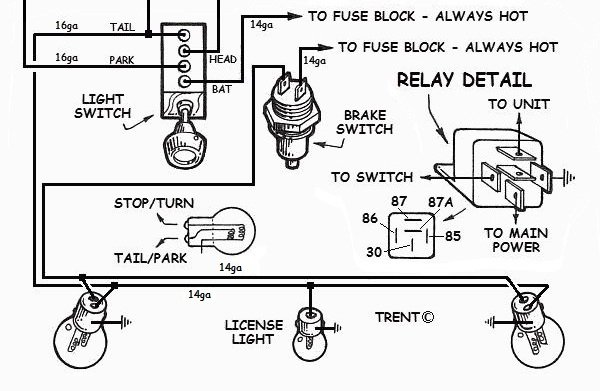 2wire wiring diagram hot rod  94 toyota pickup wiring