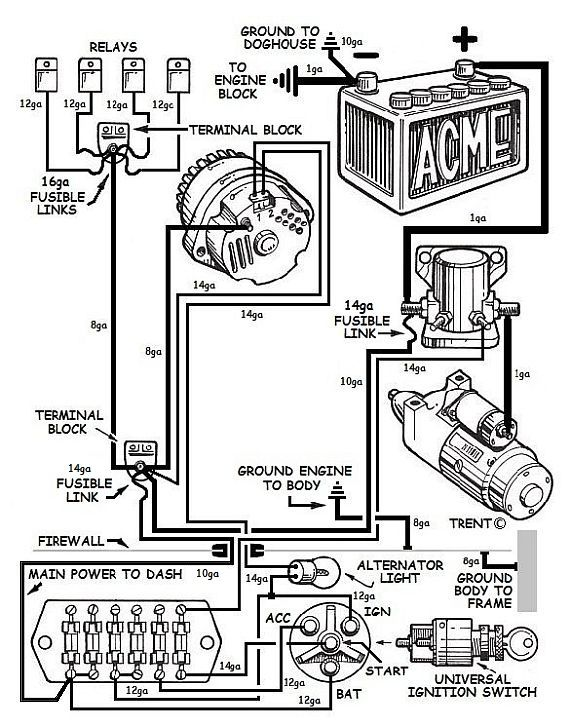 simple street rod wiring diagram  water in fuel filter