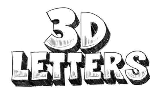 How to Draw 3D-Letters Step 6