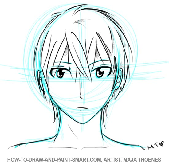 male anime faces colouring pages page 3